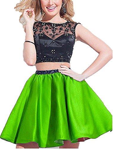 Fanciest -  Vestito  - linea ad a - Donna verde lime