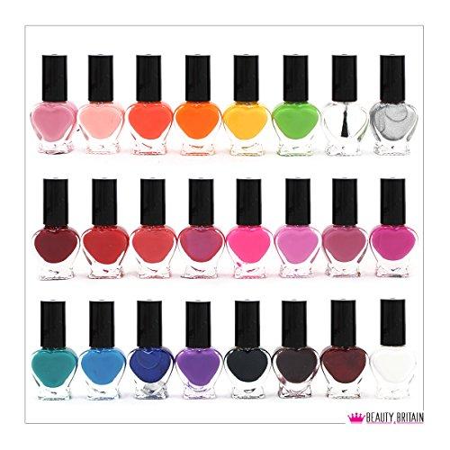 24 vernis à ongles - 24 couleurs divers - pour vos manucures et Nail Art