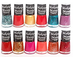 Makeup Mania Exclusive Nail Polish Set of 12 Pcs (Multicolor Set  80)
