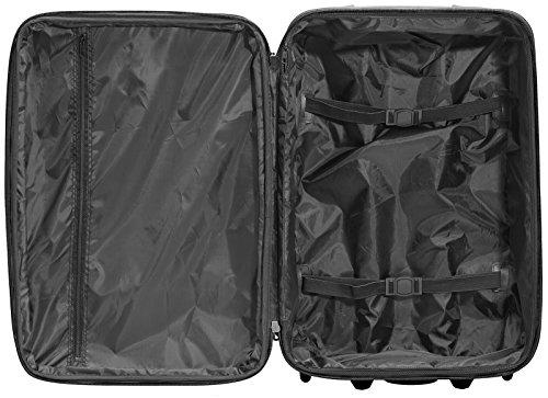 Packenger Easy Traveller Koffer 3er-Set aus Nylon in der Farbe Schwarz. Abmessungen: Größe M (Bordcase), L und XL - 5