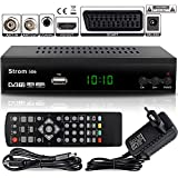 Strom 506 - TNT HD Decodeur TNT HD Pour TV / Recepteur TNT HD / Adaptateur TNT Décodeur TNT / Boitier TNT HD / Tuner TNT Decodeur TV Demodulateur TNT Decodeurs TNT Full HDMI Terrestre Parabole, Noir