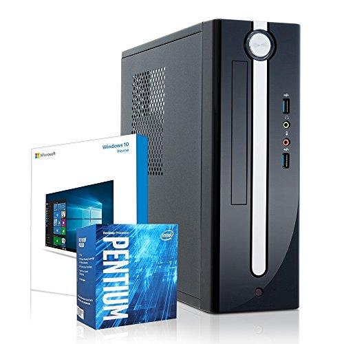 Kiebel Mini PC i-core XL 7.0 [190131] Intel Pentium G4560 Dualcore 2x3.5GHz | 4GB DDR4 | 1TB Festplatte | Intel HD Grafik | ASUS | DVD | Win10 | Stromspar Computer