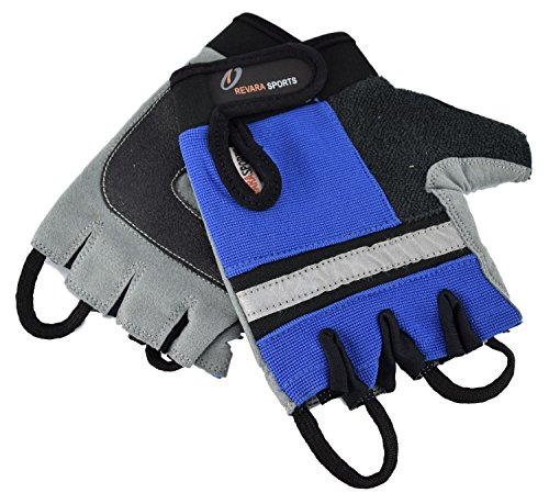 Ability Superstore - Revara Sport Rollstuhlhandschuhe, Größe L, blau