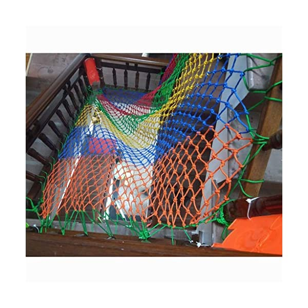 WLnet Child Safety Anti-fall Net, Color Balcony Loft, Stair Railing Protection Net Hand-woven Traditional Structure Nylon Rope Net Mesh 10mm * 6cm (Size: 2 * 3m) (Size : 4 * 9M)  [Anti-fall net preferred material] select high quality nylon material, healthy and environmentally friendly, strong and tough, durable [Anti-fall net double buckle weaving] hand knotted, not easy to off the line, beautiful and strong, [Anti-fall net surrounding rope] has a separate side rope design on four sides, solid fixed, wear-resistant, stable support net 6