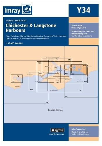 Imray Chart Y34 Laminated: Chichester and Langstone Harbours (Y series, Band 34) -