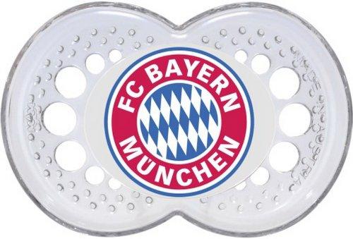 FCB FC Bayern München Schnuller Silikon 16+, 1 Stück