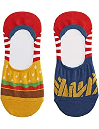 Sock It To Me - Botines No Show Calcetines Unisex Burgers & Friso para Mc Donalds Fans Talla 39-46 Talla Única