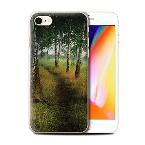 Officiel Elena Dudina Coque / Etui pour Apple iPhone 8 / Endroit Calme Design / Fantaisie Paysage Collection Arbre/Sentier