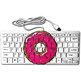 Donut 78 Keys Wired USB Mini Slim Keyboard For Pc Computer Laptop