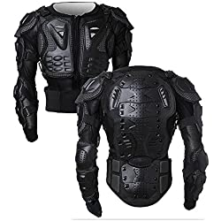 SunTime Chaqueta de Protección para Motocross Motos Ropa Protectora de Cuerpo Armadura Completo Profesional de Motocicleta Deportiva para Hombres Columna Vertebral Hombro Pecho ( Negro, XL )