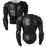 Giacca da Moto Protezione di Motocross Giacca Moto Indumenti di Protezione Corpo Armatura Completa Moto Professionale Sportivo per gli uomini Spina Dorsale Cassa Spalla ( Nero )