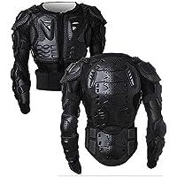 SunTime Motorrad Vollkörper Rüstungsschutz Pro Street Motocross ATV Schutzhemd Jacke mit Rückenschutz (Schwarz XXL)