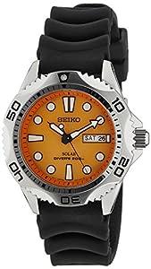 Reloj Seiko SNE109P1 de caballero de cuarzo con correa de goma negra (solar) - sumergible a 200 metros de J.M.GARCIA