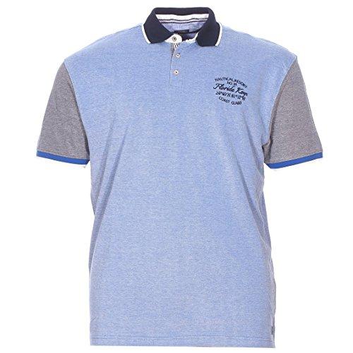 Kitaro Herren Shirt Poloshirt Keys of Florida Blau
