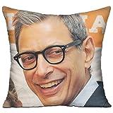Meilitts Jeff Goldblum Smile Custom Pillow Covers standard size cuscino casi decorativo cotone federa Protecter–45,7x 45,7cm (due lati)