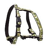 CHAPUIS SELLERIE SLA428 Verstellbares Hundegeschirr - Nylongurt grüne Tarnfarbe - Breite 15 mm - Maße 30-50 cm - Größe S