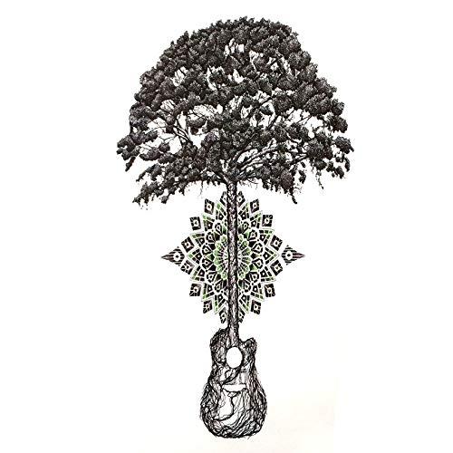 LBBMBC 3 Stück üppige Gott Baum wasserdicht Tattoo Aufkleber Lotus temporäre Tätowierung Harajuku Tattoo Body Art Henna Tattoo Aufkleber