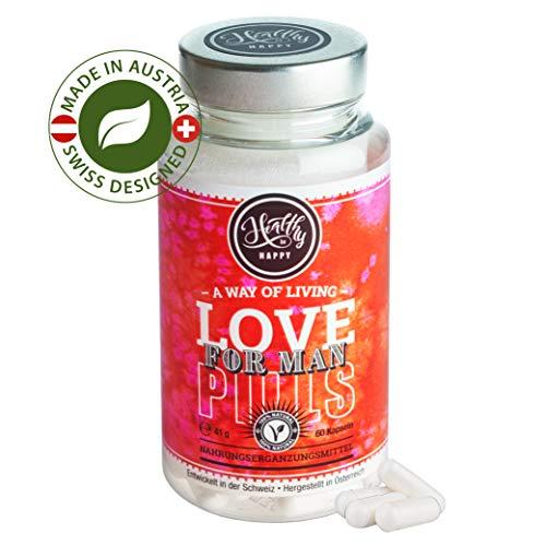 Love Pills - ideale Vitamine für Männer - Potenz Förderung - besten natürlichen Potenzmittel - L-Arginin - verbessert die Durchblutung - 60 Kapseln