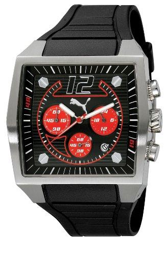Puma Time - A.PU910551002 - Montre Homme - Quartz - Analogique - Chronographe - Bracelet Résine Noire