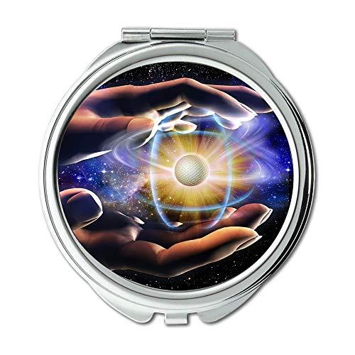 Yanteng Spiegel, Mittelerde Schminkspiegel, schützen die Erde 001 Schminkspiegel, Taschenspiegel, tragbarer Spiegel