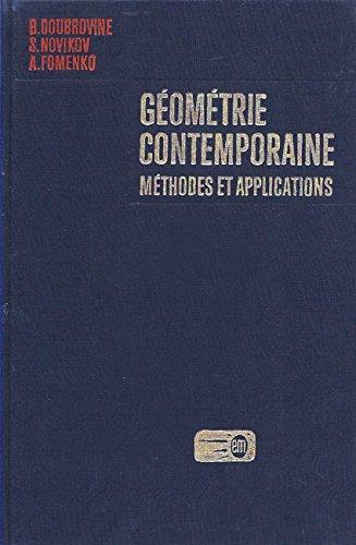 Géométrie Contemporaine, méthodes et applications - Géométrie des Surfaces, des groupes de transformations et des champs