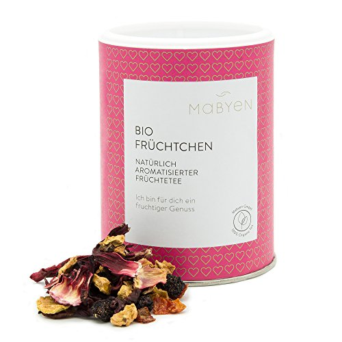 Mabyen Bio Kinder Tee Früchtchen Tea Ab Dem 1. Lebensjahr Früchtetee Naturbelassen Organic Hibiskusblüten Apfelstücke Hagebuttenschalen