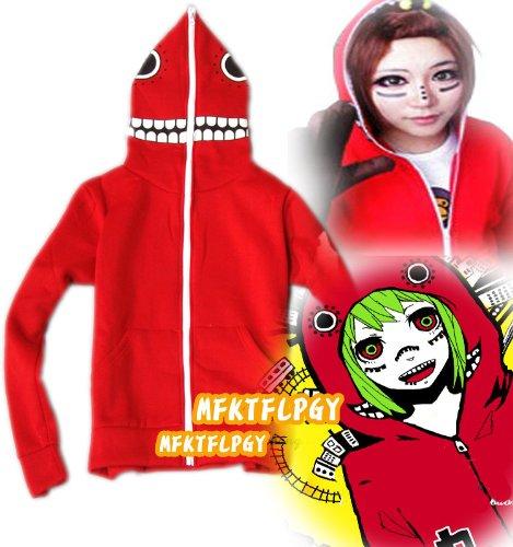 Cosplay Vocaloid Kostüm Gumi - Hatsune Miku Gumi Matryoshka Doll Cosplay hoodie, rot, Größe XXL:(Höhe 172-176cm,Gewicht 70-80kg)