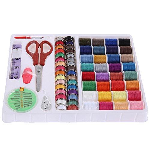 RowShan® 100 in 1 Multi Colori Kit Da Cucito per Riparazioni a Mano o con la Macchina da Cucito Kit cucito