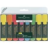 Faber-Castell 154862 - Textmarker TEXTLINER 48 Promo, 1 - 5 mm, 8er Etui, Inhalt: 3x gelb, je 1x grün, orange, rosa, blau, rot