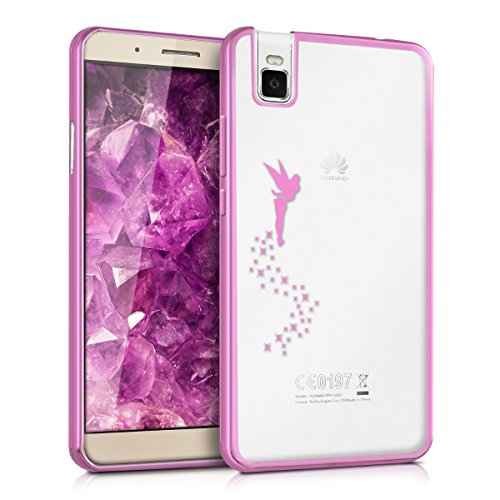 kwmobile Huawei ShotX Hülle - Handyhülle für Huawei ShotX - Handy Case in Pink Transparent