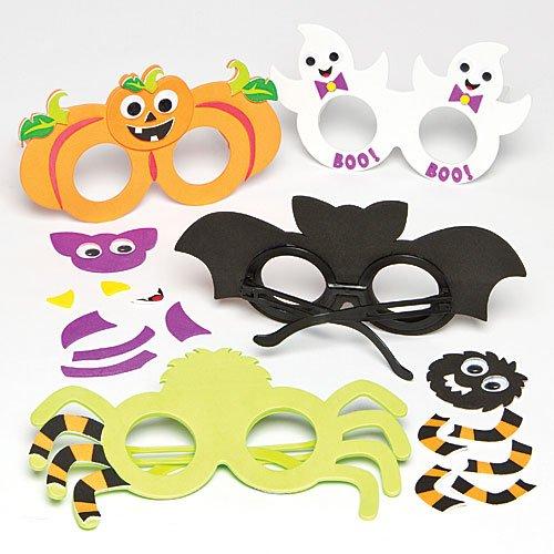 """en-Brillen"""" aus Moosgummi für Kinder Zum Selbermachen und Verkleiden (als Accessoire) (4 Stück) (Baker Halloween Kostüme)"""