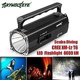 8000LM CREE XM-L2 T6 LED Tauchen Unterwasser 100 M Taschenlampe Wasserdicht