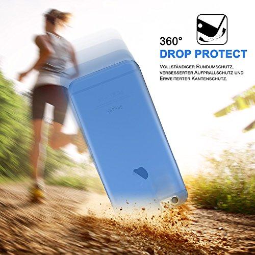 iPhone 4S Hülle Silikon Transparent Lila [OneFlow Clear Back-Cover] TPU Schutzhülle Dünn Handyhülle für iPhone 4/4S Case Ultra-Slim Silikonhülle Rückseite SKY-BLUE