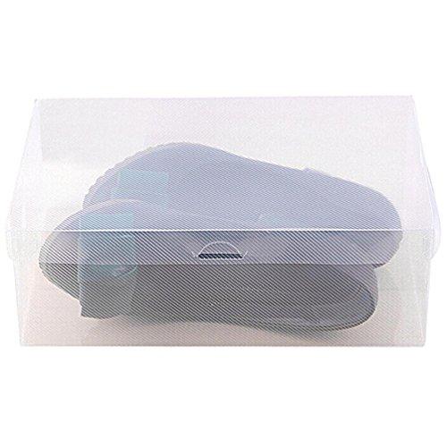 hunpta 1faltbar Aufbewahrungsbox Schuhe Box Kunststoff stapelbar Schuh Organizer, weiß, S -
