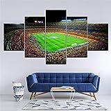 Mddrr Leinwand Malerei Spanien Fc Barcelona Sport Fußball 5 Stücke Wandkunst Malerei Modulare Tapeten Poster Home Decor Artwork