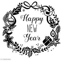 Aladine 01741sello F Happy New Year corona