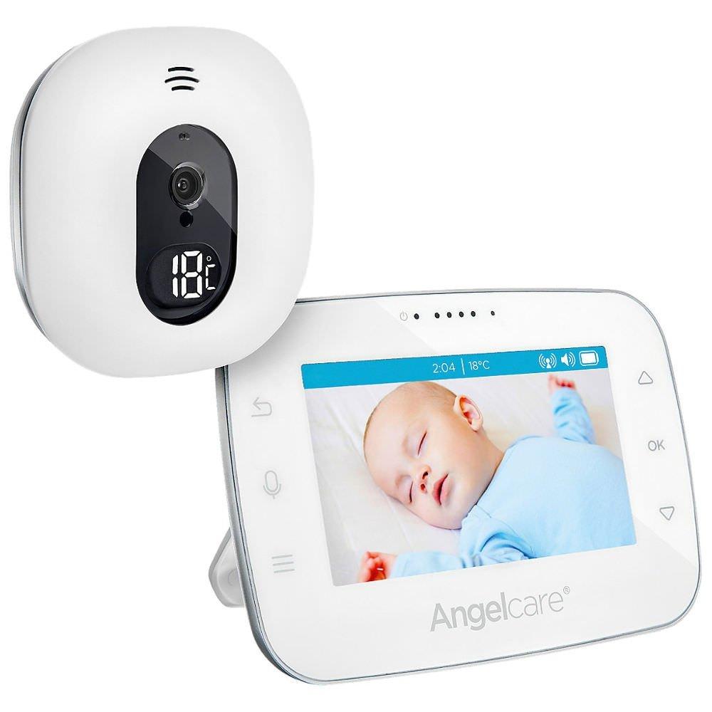 Angelcare AC310-D Babyphone mit Video-Überwachung, 4.3 Zoll Display, weiß