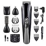 LAONG-- Elektrische Haarschneider 6 in 1 Multi Wiederaufladbare Personal Grooming Set Elektrorasierer Bartschneider Haarschneidemaschine Für Männer, Frauen und Kinder