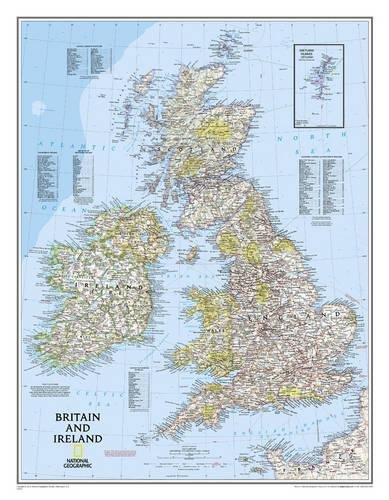 Britain and Ireland Classic, tubed Wall Maps Countries & Regions: NG.P602022 (Reference - Countries & Regions) por National Geographic Maps