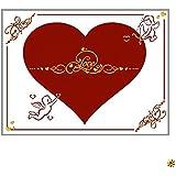 Herzlaken Laken zum Ausschneiden, viele Motive ! GRATIS 2 Scheren & Geschenkkarton, Partyspiel zur Hochzeit, Herz Laken