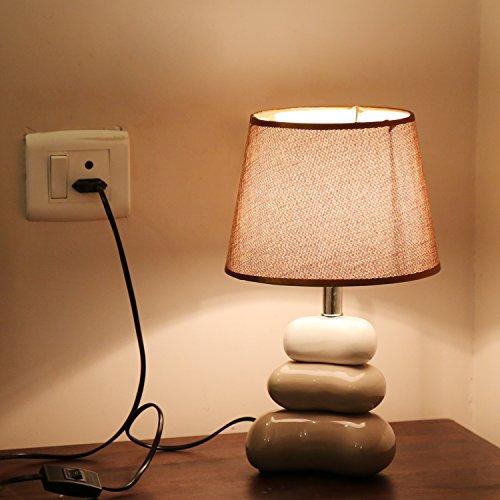 Kurtzy Modern luxurious Crackle Pebble Table Desk Lamp Beautiful art Decor elegant...