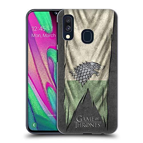 Head Case Designs Offizielle HBO Game of Thrones Stark Sigil Flags Harte Rueckseiten Huelle kompatibel mit Samsung Galaxy A40 (2019) Flag Case Zubehör