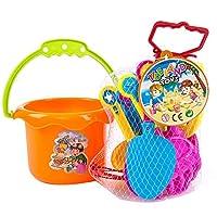 YBWZH Cartoon Tiny Beach Sand Tools Toys Mini Bucket Set Children Outdoor Toys,9pc Kids Beach Toys