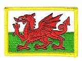 Flaggen Aufnäher Patch Wales Fahne Flagge