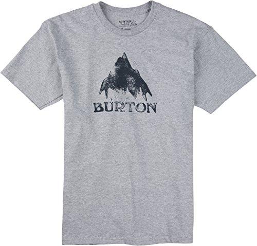 Burton-Maglietta da uomo Stamped MTN a maniche corte, Uomo, T-Shirt Stamped Mtn Short Sleeve, Grigio erica, M