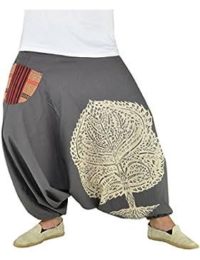 virblatt Haremshose für Frauen und Männer mit hochwertigem Druck Einheitsgröße S-L Aladinhosen und GOA Hose in...