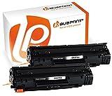 Bubprint 2 Toner kompatibel für HP CE278A 78A für Laserjet M1500 M1536DNF M1537DNF M1538DNF M1539DNF P1566 P1600 P1606DN P1607DN P1608DN MFP Schwarz