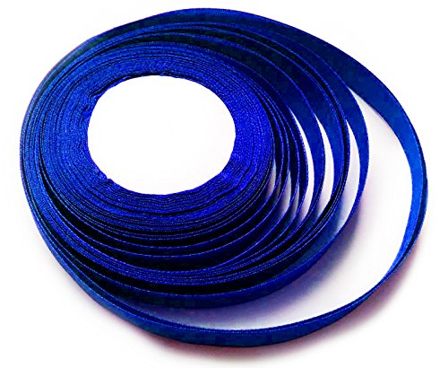 ksf-25-yards-x-10-mm-of-satin-ribbon-for-wedding-favour-craft-gift-wrap-christmas-royal-blue