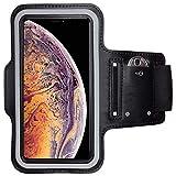 CoverKingz Apple iPhone XS Max Sportarmband Fitness-Hülle Schwarz Jogging-Case mit Schlüsselfach Handy-Lauf-Tasche Running-Case Handy-Tasche Sport Fitness-Armband