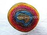 Papatya Cake Silver - 150g Cake Yarn mit Glitzer - Wolle/Garn zum Häkeln und Stricken (304)